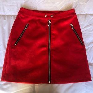 Forever 21 Suede Zipper Skirt